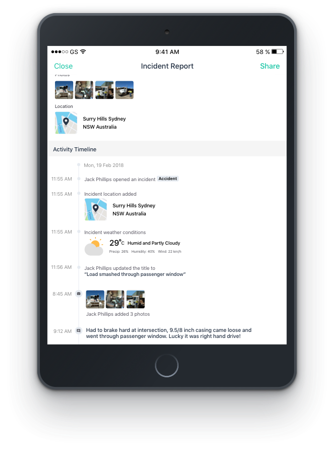 real-time incident reporting app