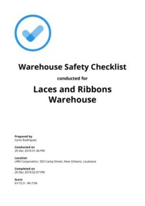 warehouse safety inspection checklist