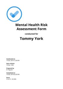 mental health risk assessment