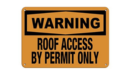 roof safety sign warning example from iauditor by safety culture