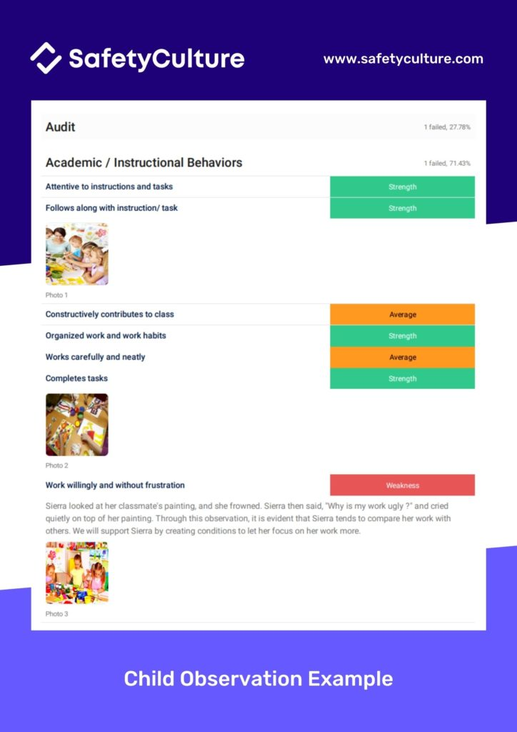 child observation examples