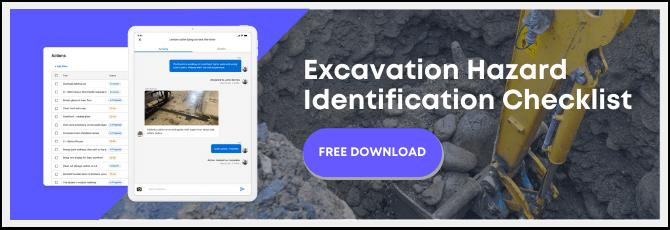 excavation safety hazard identification checklist
