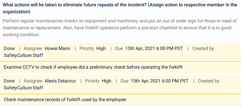Incident Report Sample - Step 5