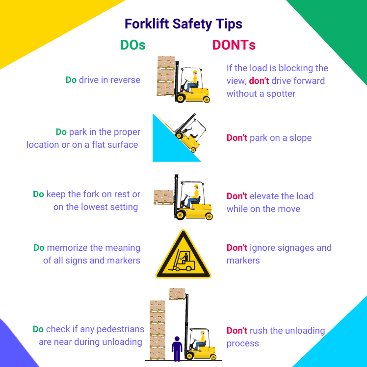 Forklift Safety Tips - Dos and Donts