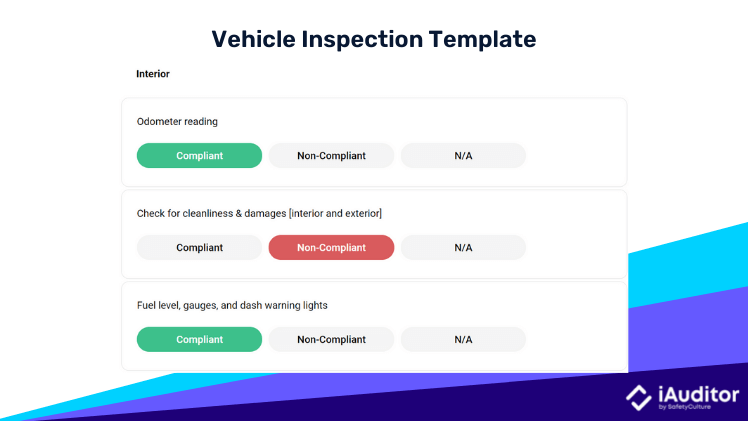 vehicle inspection template